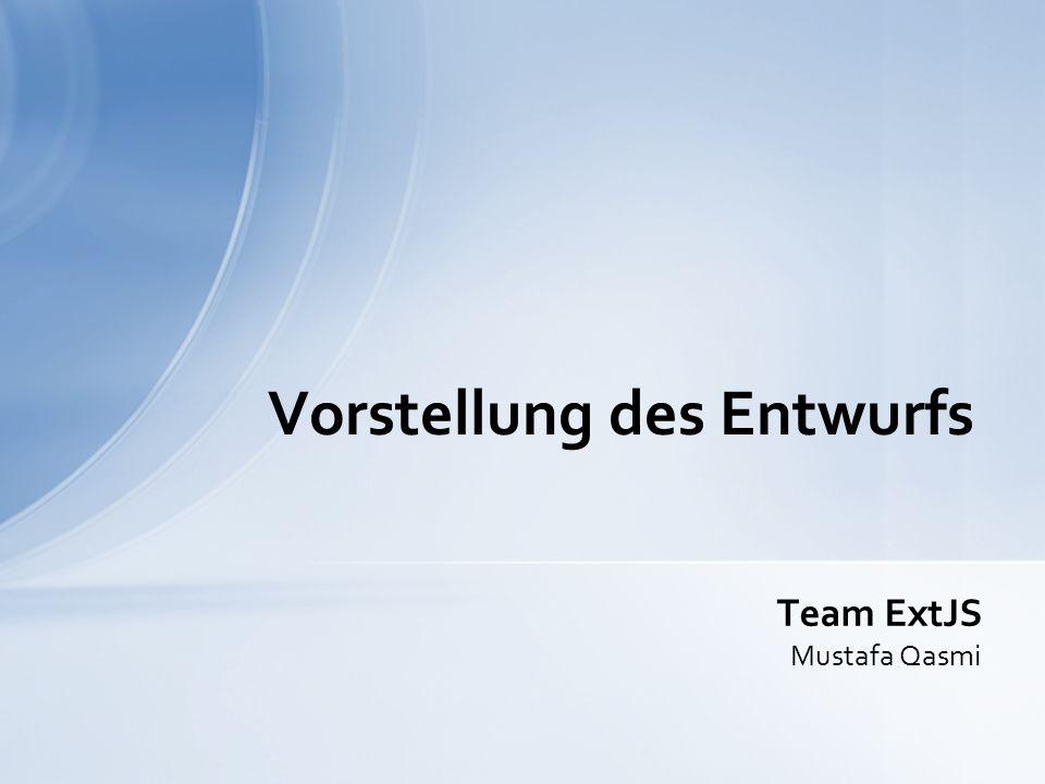 1.Vorstellung des Usecases 2.Aufbau der Webanwendung 3.Vorstellung des Konzepts 4.Qualitätssicherung / Testing 5.Ausblick Agenda Vorstellung des Entwurfs Team ExtJS 2