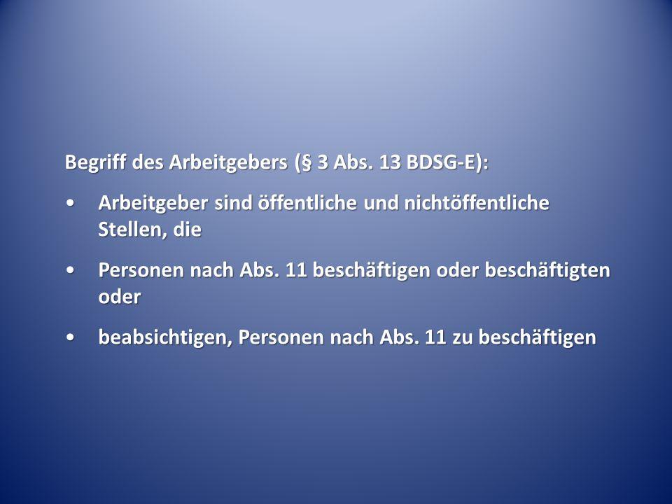 Begriff des Arbeitgebers (§ 3 Abs.
