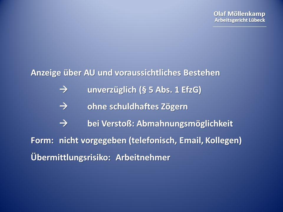Olaf Möllenkamp Arbeitsgericht Lübeck Rechtsgrundlage § 84 Abs.