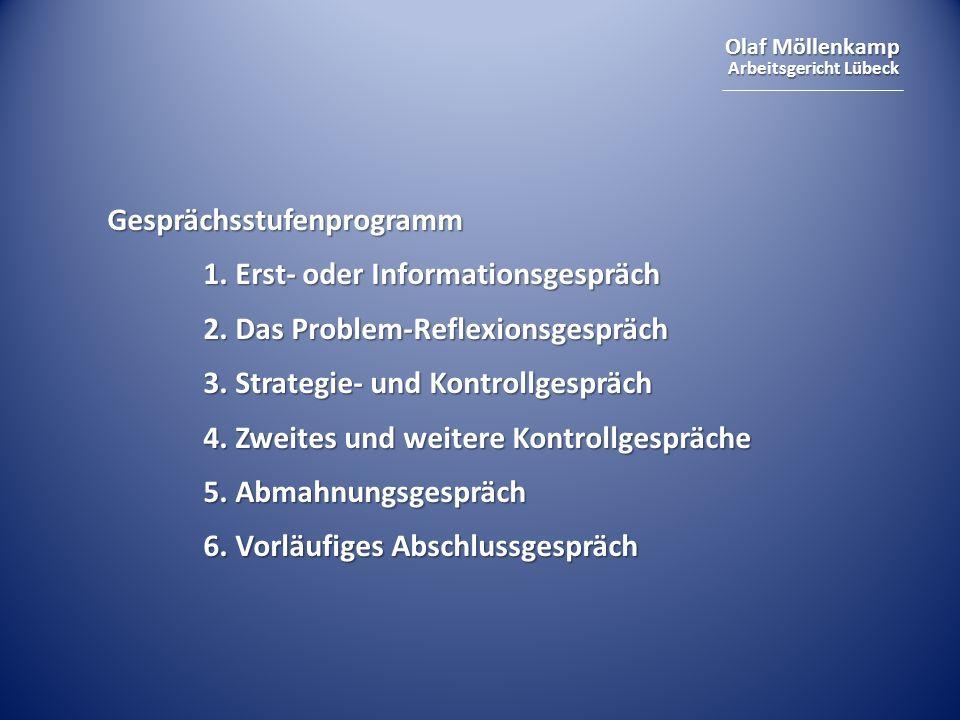 Olaf Möllenkamp Arbeitsgericht Lübeck Gesprächsstufenprogramm 1.