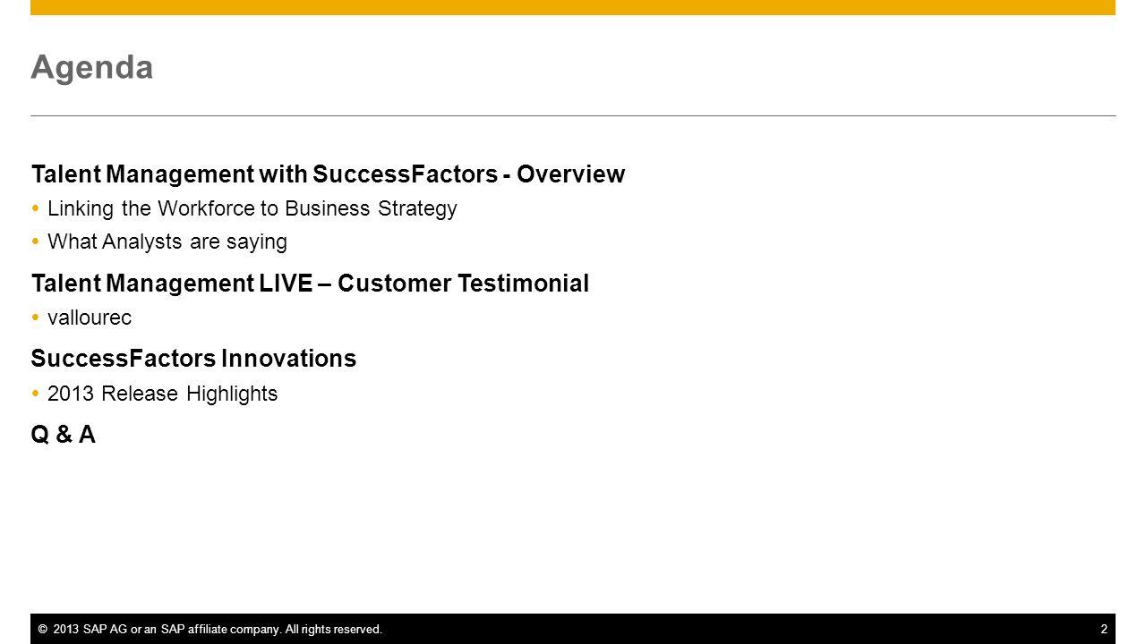 Talent Management with SuccessFactors - Overview