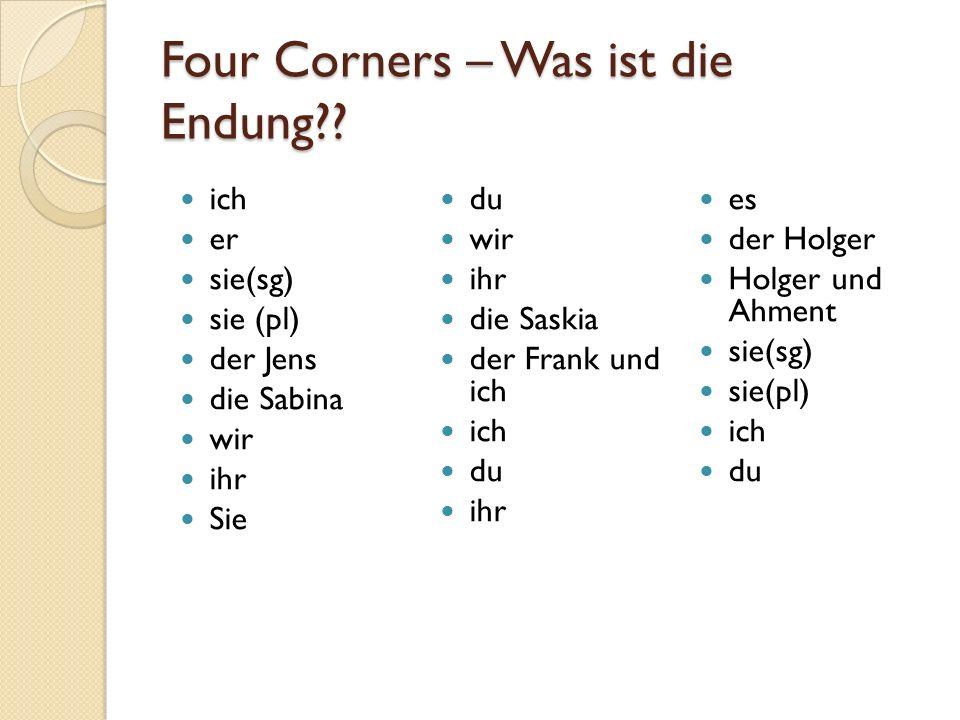 Four Corners – Was ist die Endung?.