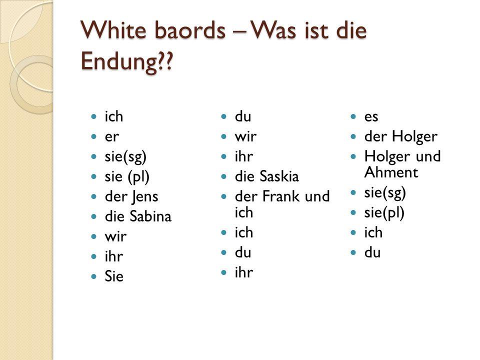 White baords – Was ist die Endung?.