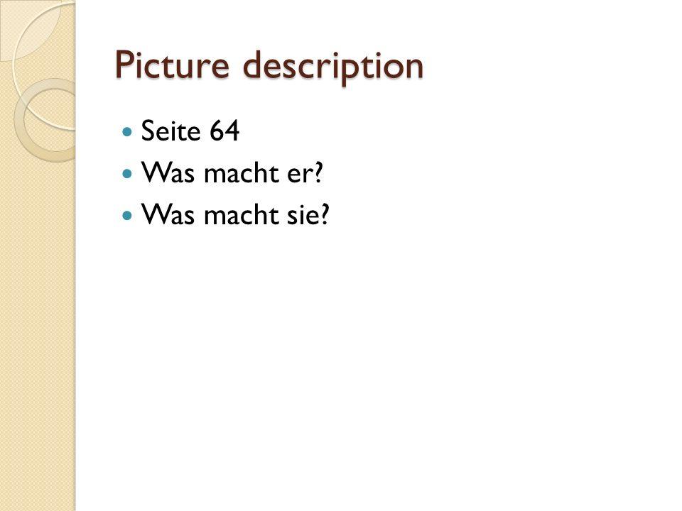 Picture description Seite 64 Was macht er Was macht sie