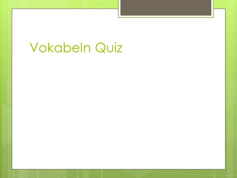 Vokabeln Quiz