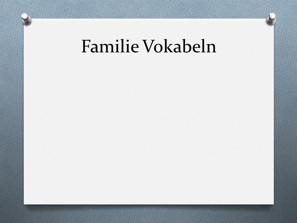 Familie Vokabeln