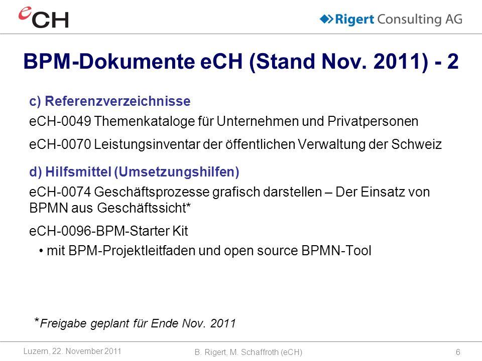 B.Rigert, M. Schaffroth (eCH)6 Luzern, 22.