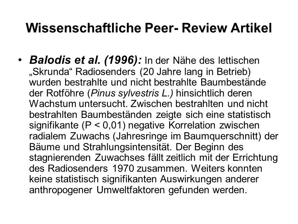 Wissenschaftliche Peer- Review Artikel Balodis et al.