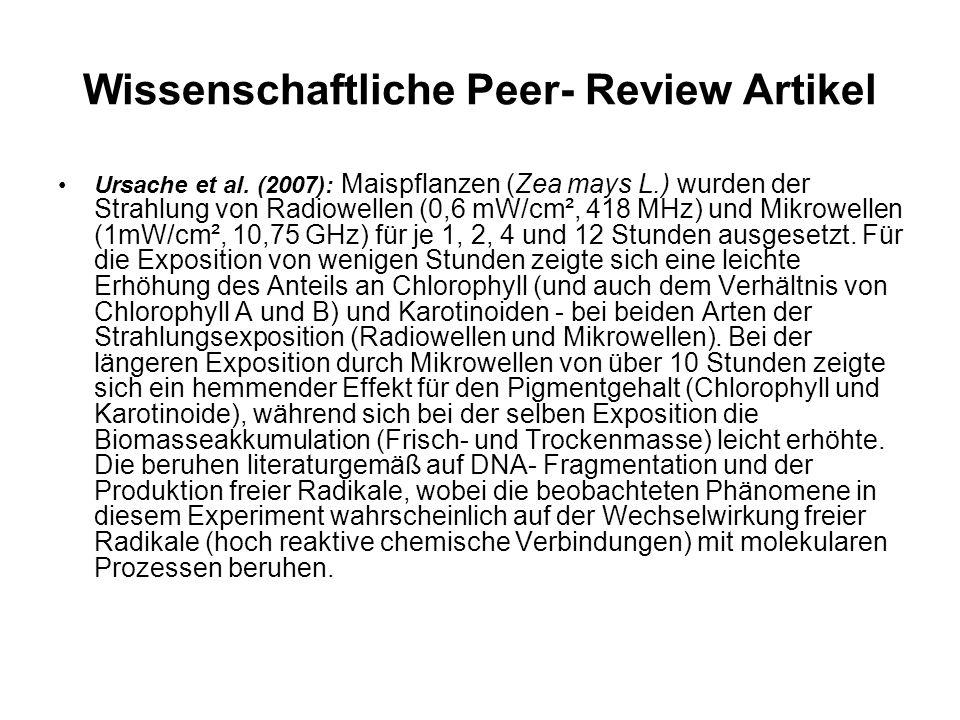 Wissenschaftliche Peer- Review Artikel Ursache et al.