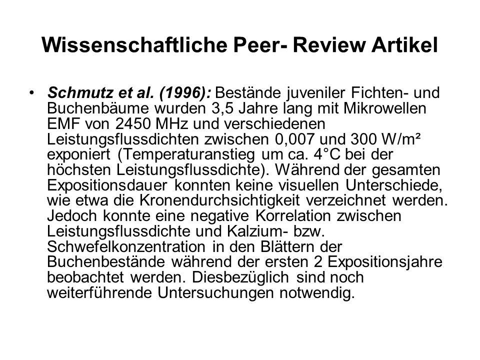 Wissenschaftliche Peer- Review Artikel Schmutz et al.