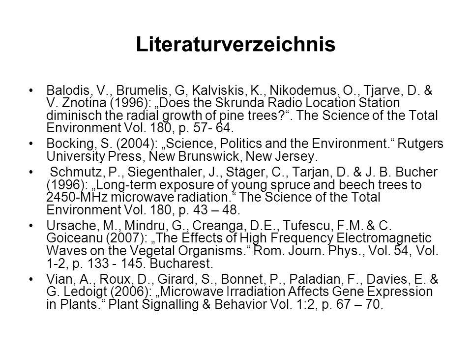 Literaturverzeichnis Balodis, V., Brumelis, G, Kalviskis, K., Nikodemus, O., Tjarve, D.