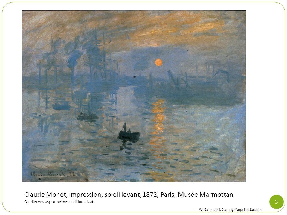 3 Claude Monet, Impression, soleil levant, 1872, Paris, Musée Marmottan Quelle: www.prometheus-bildarchiv.de © Daniela G. Camhy, Anja Lindbichler