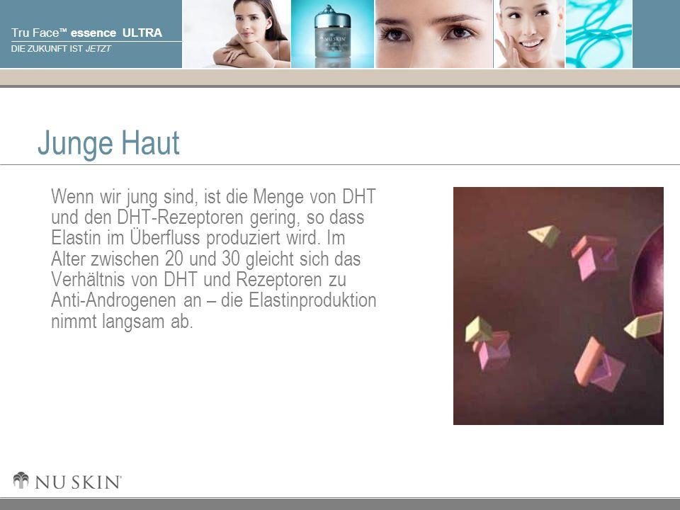 © 2001 Nu Skin International, Inc Tru Face essence ULTRA DIE ZUKUNFT IST JETZT Das Altern der Haut Mit dem Älterwerden verändert sich das Verhältnis von DHT und DHT-Rezeptoren zu Anti-Androgenen.