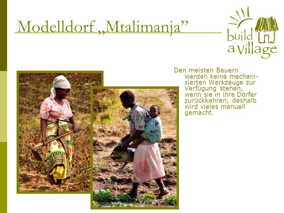 Den meisten Bauern werden keine mechani- sierten Werkzeuge zur Verfügung stehen, wenn sie in ihre Dörfer zurückkehren, deshalb wird vieles manuell gem
