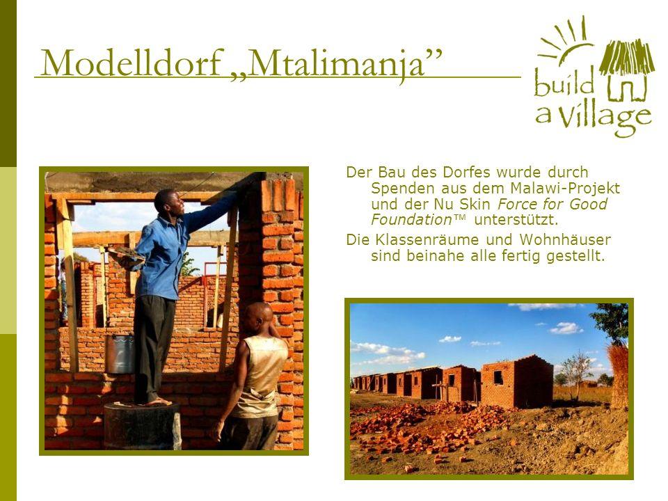 Der Bau des Dorfes wurde durch Spenden aus dem Malawi-Projekt und der Nu Skin Force for Good Foundation unterstützt. Die Klassenräume und Wohnhäuser s