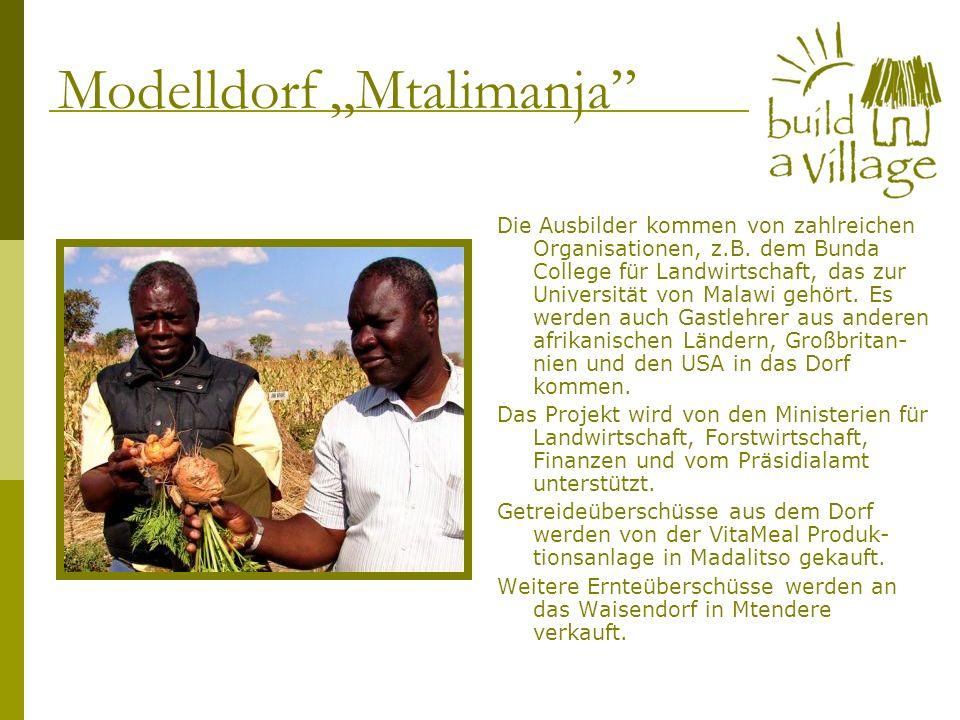 Die Ausbilder kommen von zahlreichen Organisationen, z.B. dem Bunda College für Landwirtschaft, das zur Universität von Malawi gehört. Es werden auch