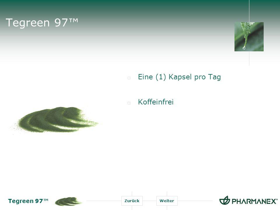 Tegreen 97 ZurückWeiter Forschung zum Grünen Tee Grüner Tee ist heute das meistkonsumierte Getränk auf der Welt.