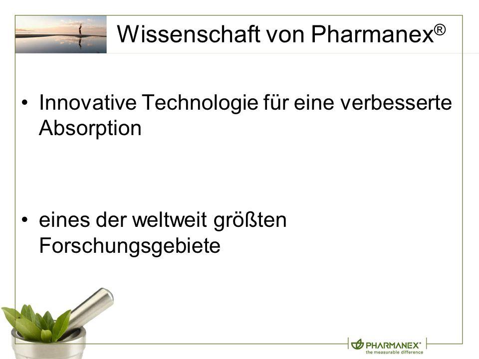 Wissenschaft von Pharmanex ® Innovative Technologie für eine verbesserte Absorption eines der weltweit größten Forschungsgebiete