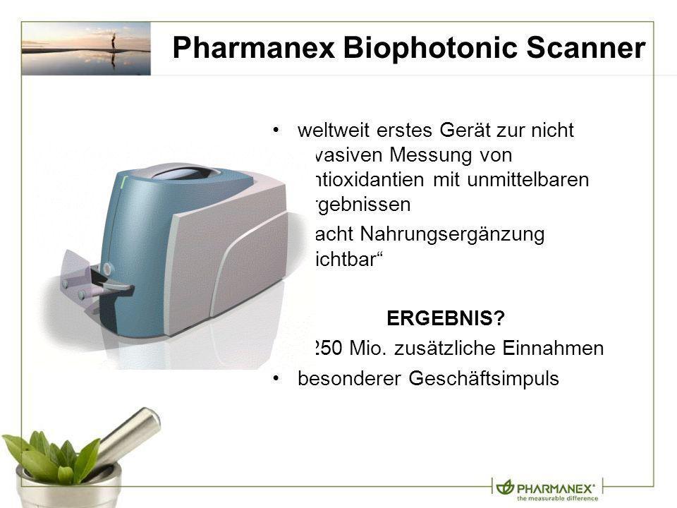 Pharmanex Biophotonic Scanner weltweit erstes Gerät zur nicht invasiven Messung von Antioxidantien mit unmittelbaren Ergebnissen macht Nahrungsergänzu