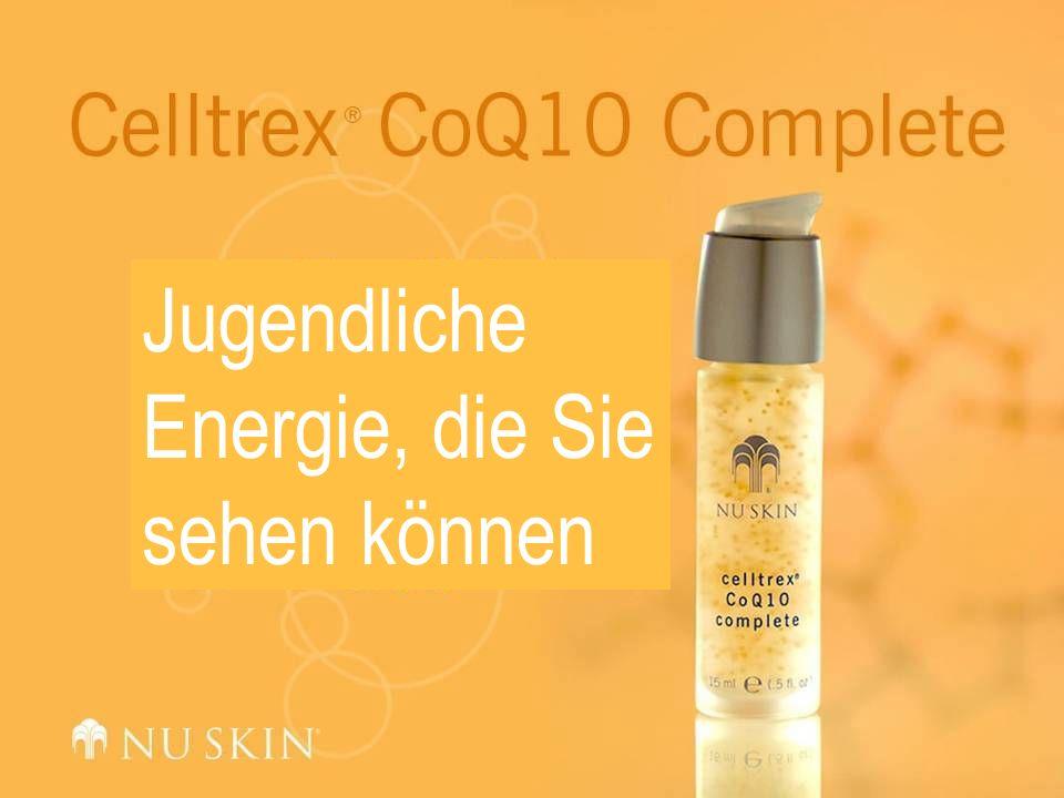 Produkteigenschaften Coenzym Q10 (CoQ10) – ein wichtiges, natürlich in unseren Zellen vorkommendes Antioxidans, das als Coenzym bei der Energieproduktion in den Zellen eine wichtige Rolle spielt.