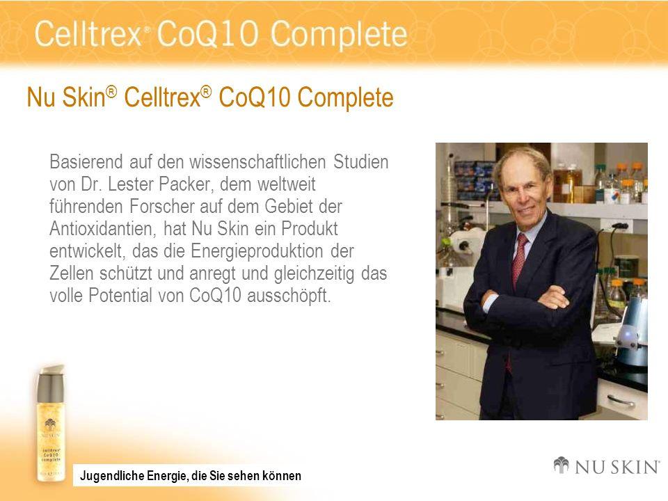 Nu Skin ® Celltrex ® CoQ10 Complete Basierend auf den wissenschaftlichen Studien von Dr. Lester Packer, dem weltweit führenden Forscher auf dem Gebiet