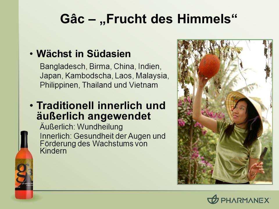 Gâc – Frucht des Himmels Wächst in Südasien Bangladesch, Birma, China, Indien, Japan, Kambodscha, Laos, Malaysia, Philippinen, Thailand und Vietnam Tr