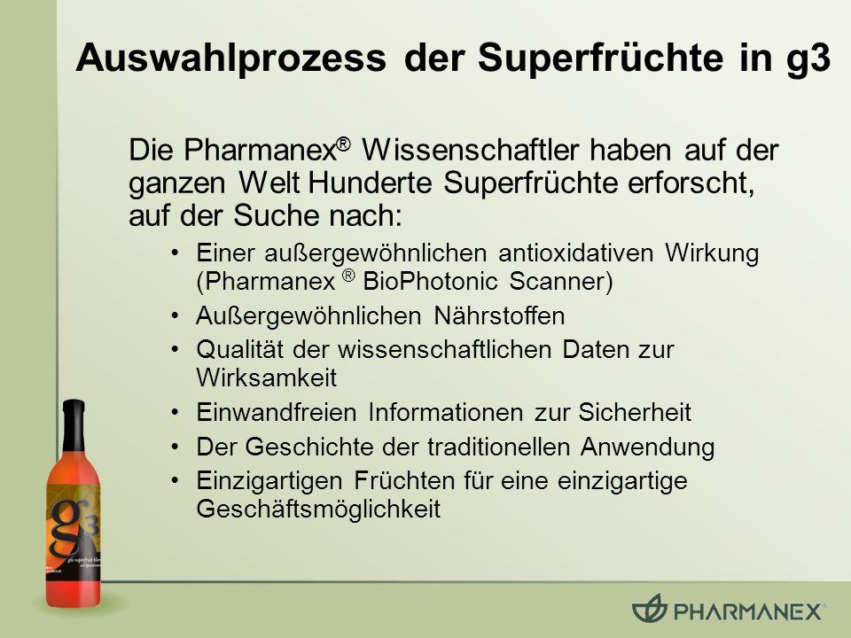 Die Pharmanex ® Wissenschaftler haben auf der ganzen Welt Hunderte Superfrüchte erforscht, auf der Suche nach: Einer außergewöhnlichen antioxidativen