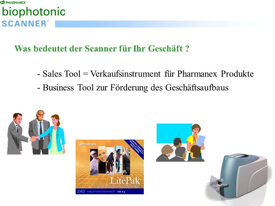 Was bedeutet der Scanner für Ihr Geschäft .
