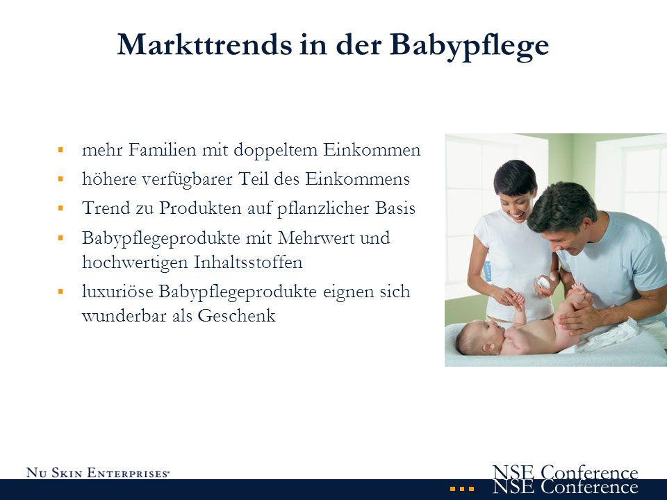 NSE Conference Baby - parent shot Markttrends in der Babypflege mehr Familien mit doppeltem Einkommen höhere verfügbarer Teil des Einkommens Trend zu