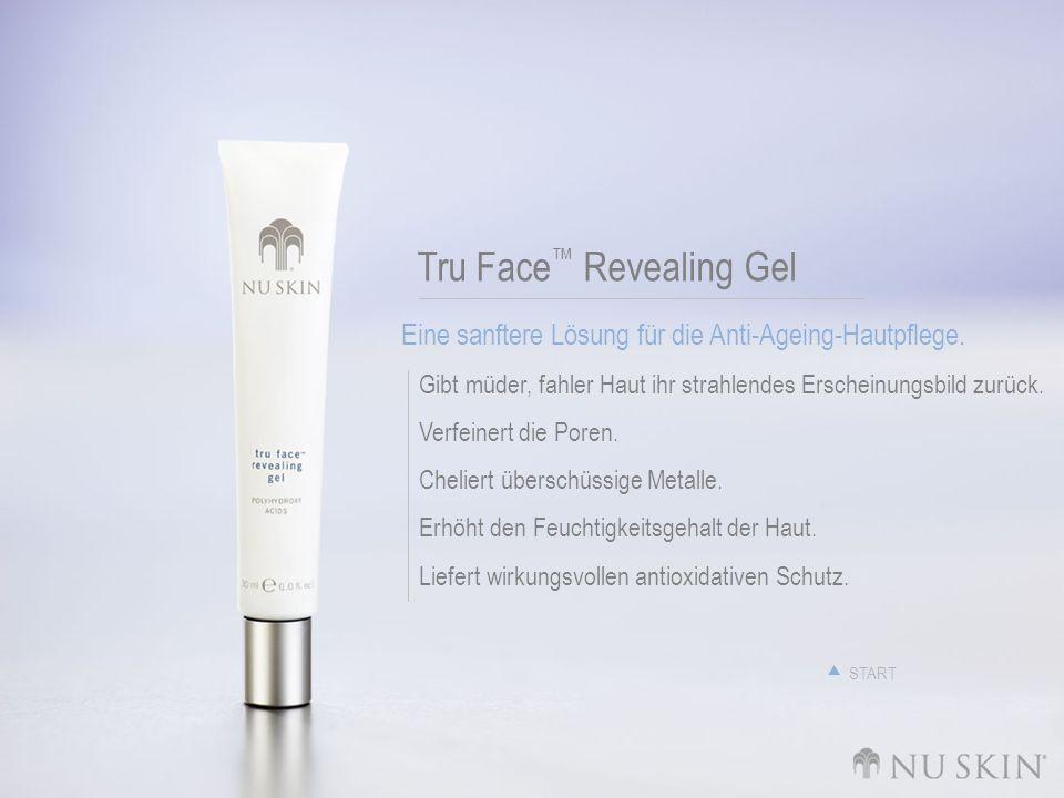 Tru Face Revealing Gel Eine sanftere Lösung für die Anti-Ageing-Hautpflege. Gibt müder, fahler Haut ihr strahlendes Erscheinungsbild zurück. Verfeiner
