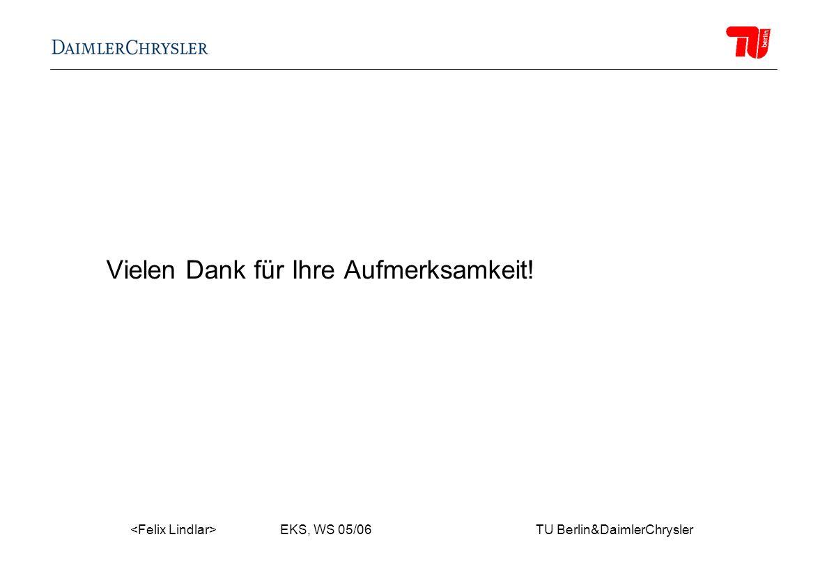 EKS, WS 05/06 TU Berlin&DaimlerChrysler Vielen Dank für Ihre Aufmerksamkeit!