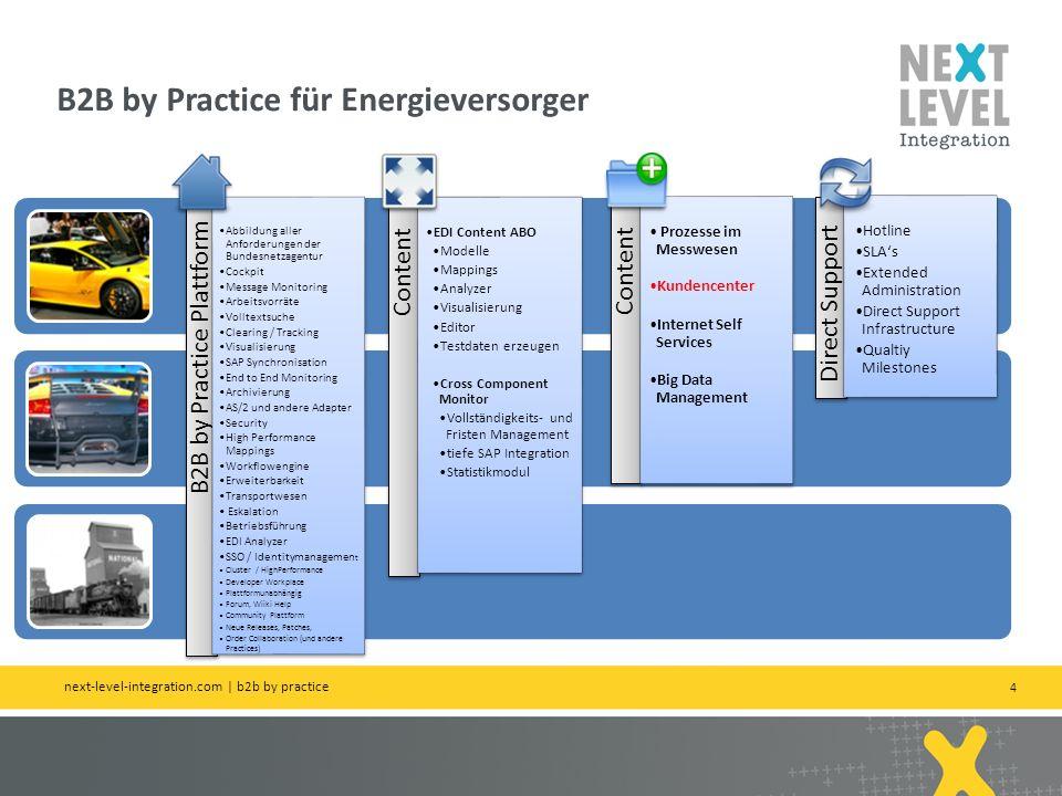 4 B2B by Practice für Energieversorger next-level-integration.com   b2b by practice B2B by Practice Plattform Abbildung aller Anforderungen der Bundes