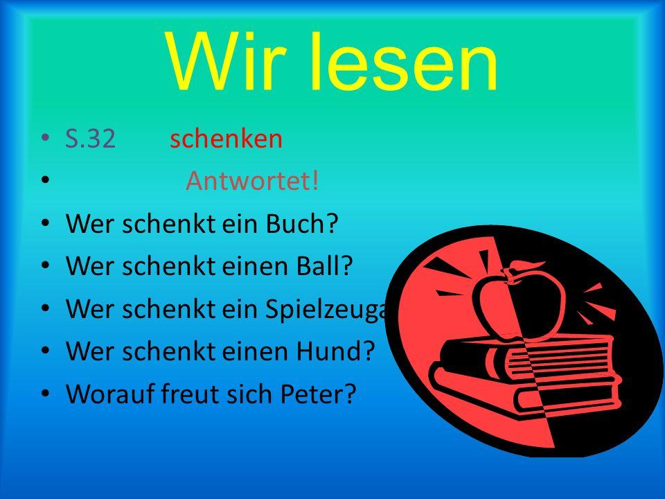 Wir lesen und singen Zum Geburtstag viel Gl ck, Zum Geburtstag lieber Peter, Zum Geburtstag viel Gl ck!