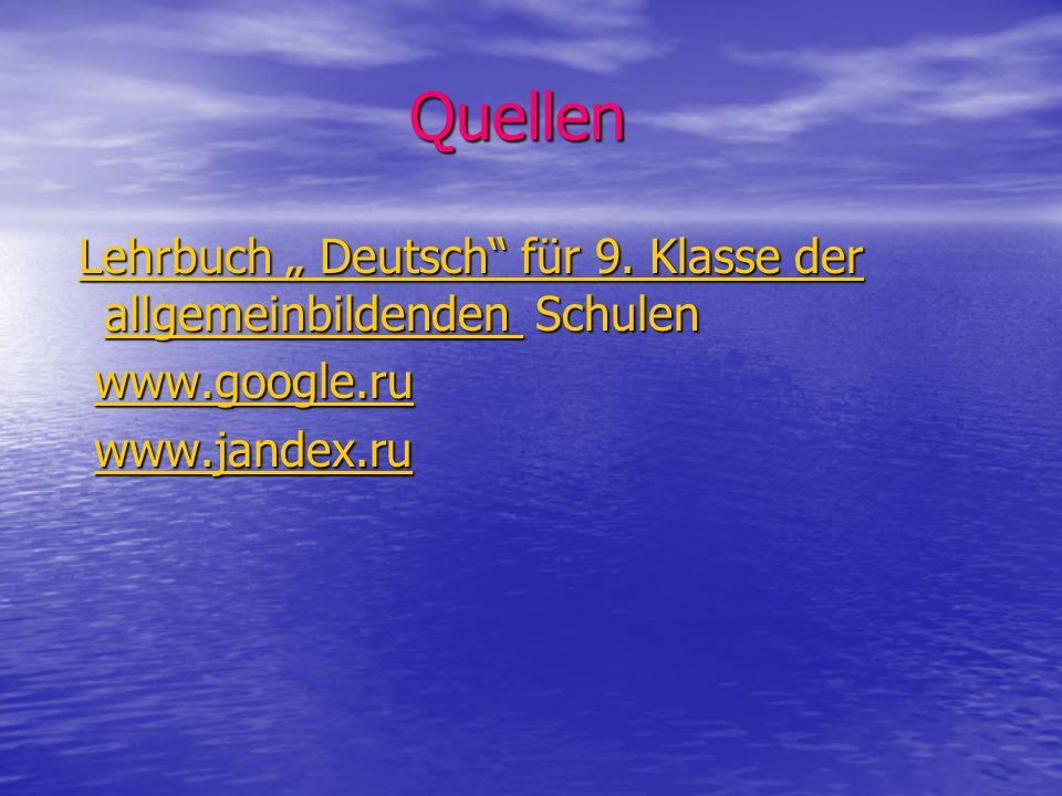 Quellen Quellen Lehrbuch Deutsch für 9.