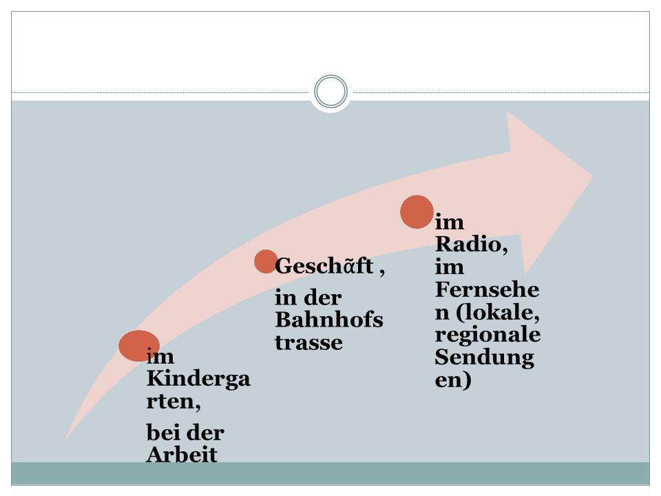 Hochde utsch die meisten Sendungen NachrichtenPolitmagazine in offiziellen Situationen Parlament offizielle Briefe in B chern, in Zeitungen mit den Schweizern, mit Touristen