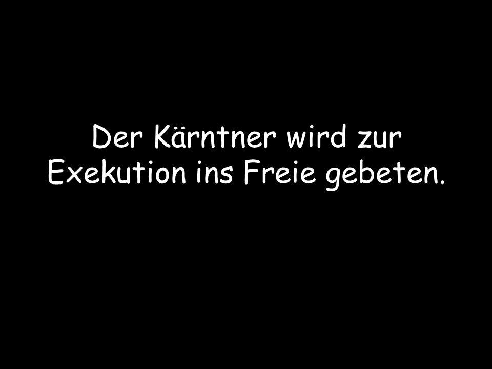 Sagt der Kärntner zum Linzer und dem Wiener: Ich habe gehört, dass die Leute von der Exekution sehr leichtgläubig sind.