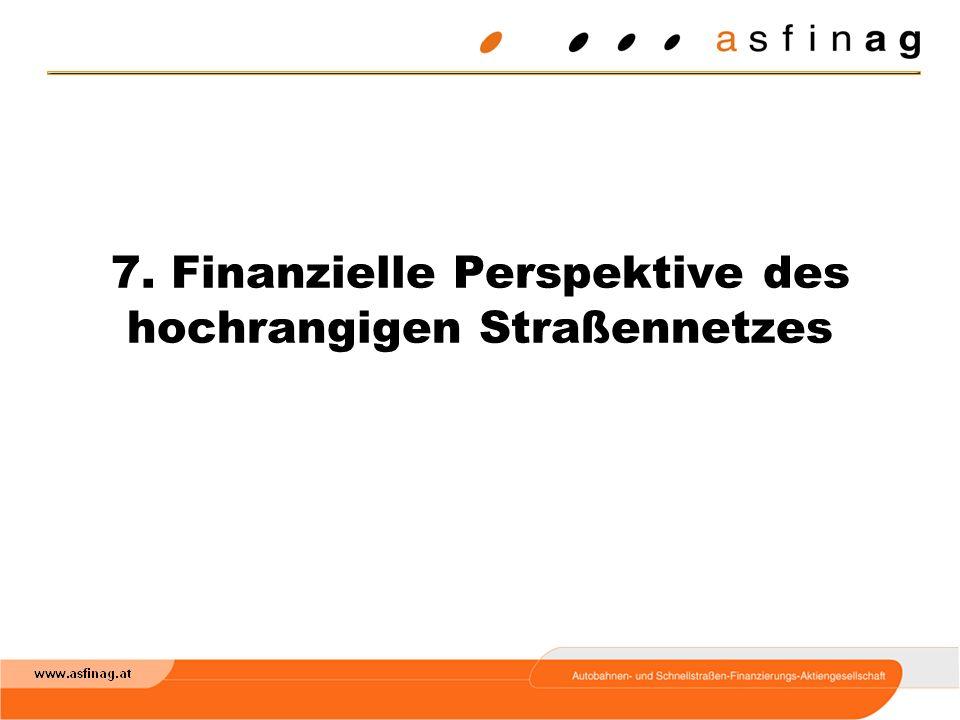 7. Finanzielle Perspektive des hochrangigen Straßennetzes