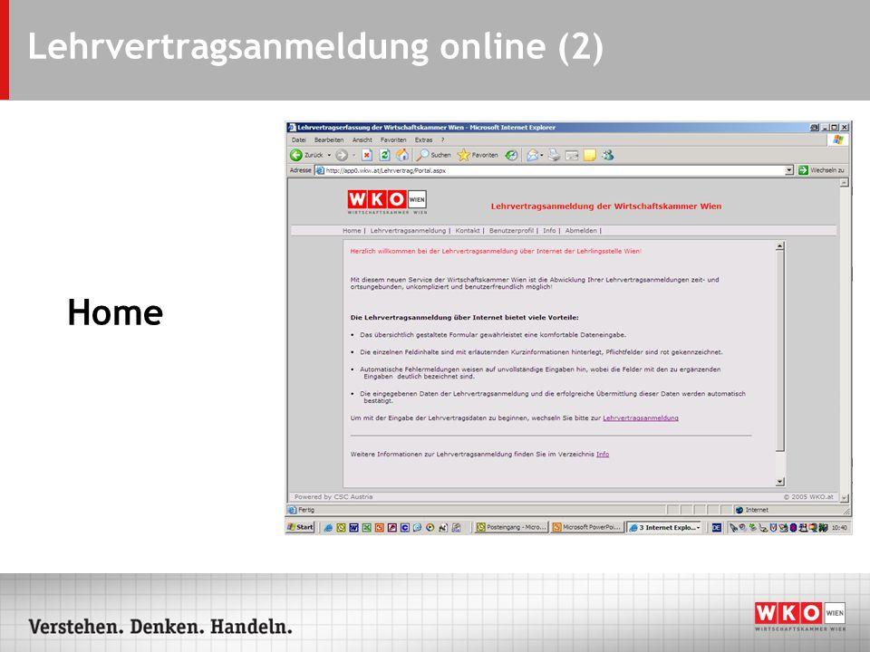 Lehrvertragsanmeldung online (2) Home