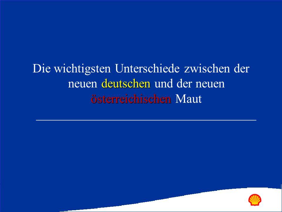 deutschen österreichischen Die wichtigsten Unterschiede zwischen der neuen deutschen und der neuen österreichischen Maut _____________________________