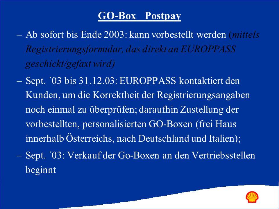 –Ab sofort bis Ende 2003: kann vorbestellt werden (mittels Registrierungsformular, das direkt an EUROPPASS geschickt/gefaxt wird) –Sept. ´03 bis 31.12