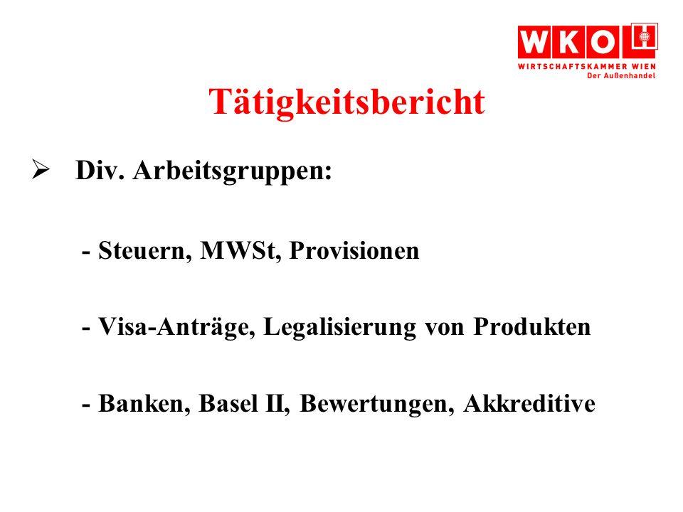 Tätigkeitsbericht Div.