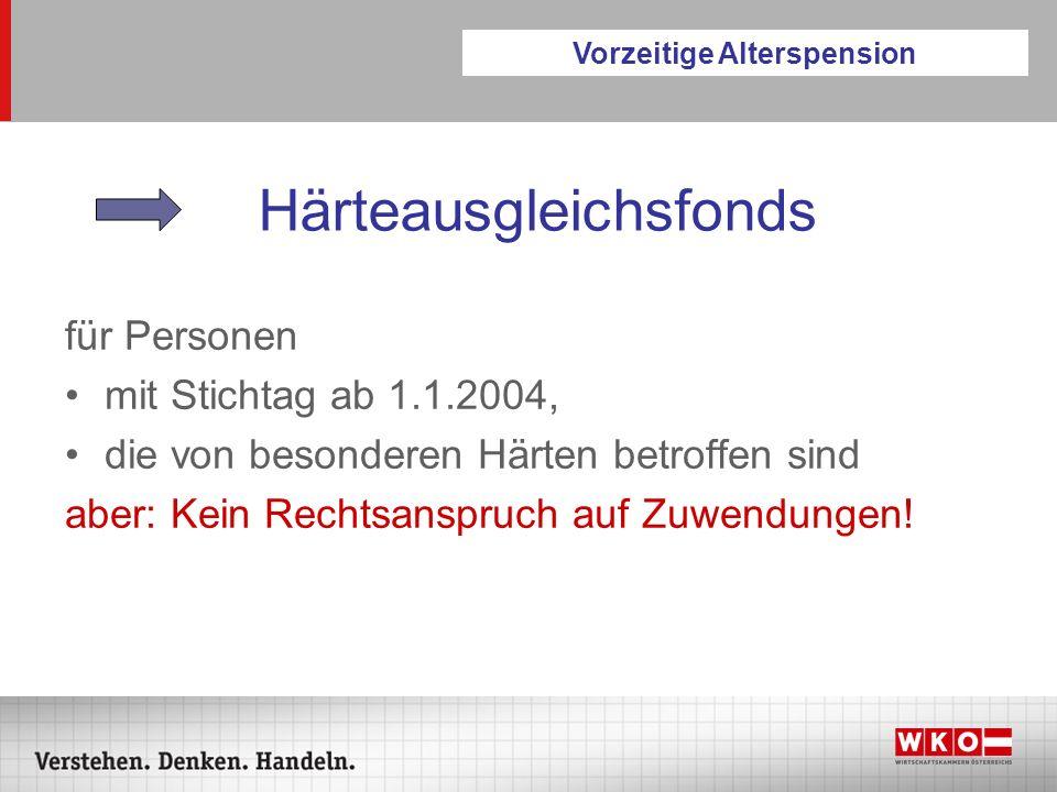 Hacklerregelungen Hacklerregelung II Pensionsprozentsatz gestaffelt Anstieg Bemessungszeit 12 Beitragsmonate / Jahr Vorsicht: Verschärfte Abschlagsregelung.