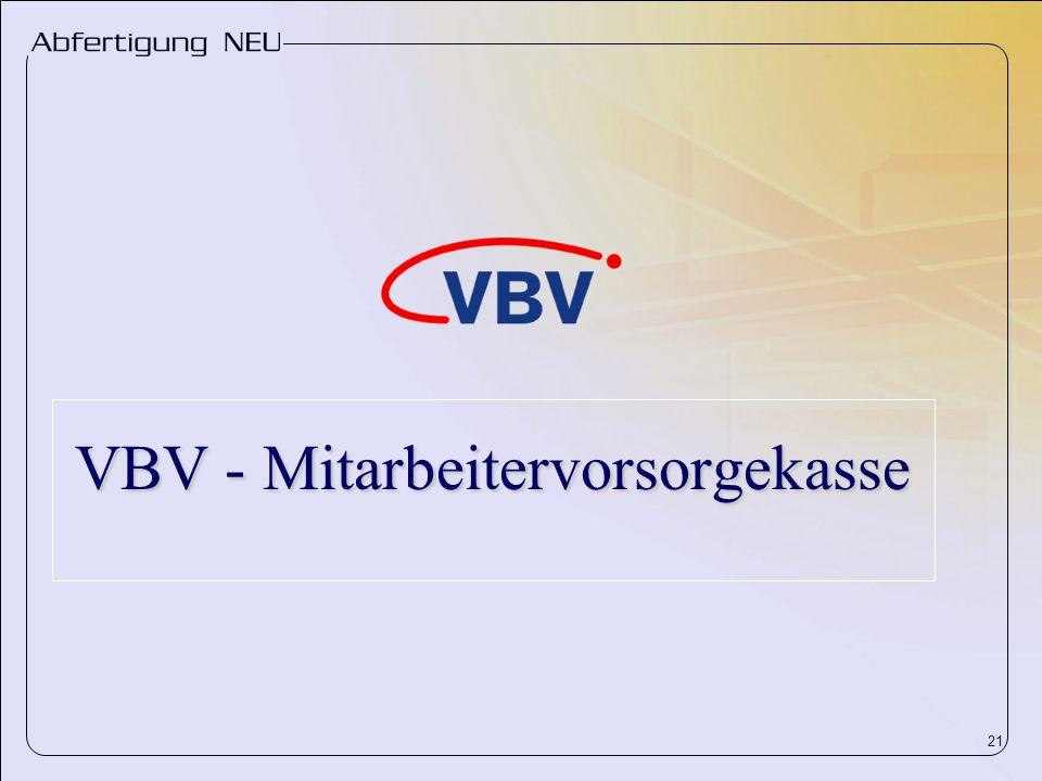 21 VBV - Mitarbeitervorsorgekasse