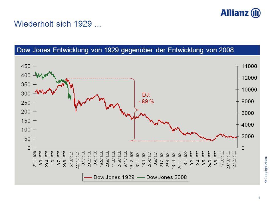 © Copyright Allianz 4 Wiederholt sich 1929...