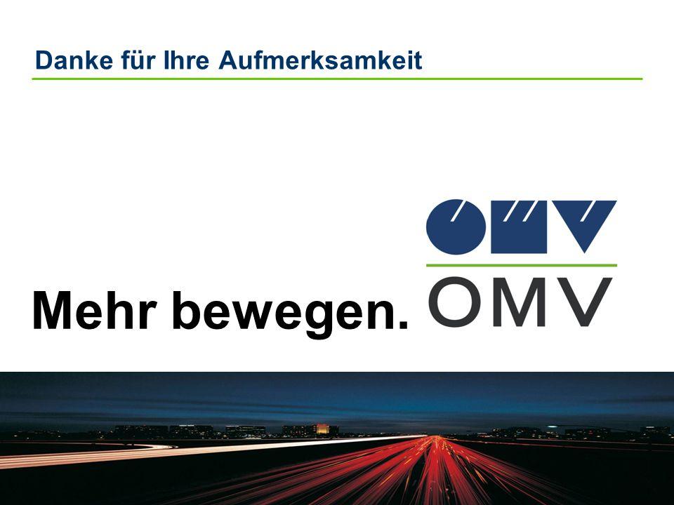 19 |OMV R & M GmbH, Dr. W. Baumann Danke für Ihre Aufmerksamkeit Mehr bewegen.