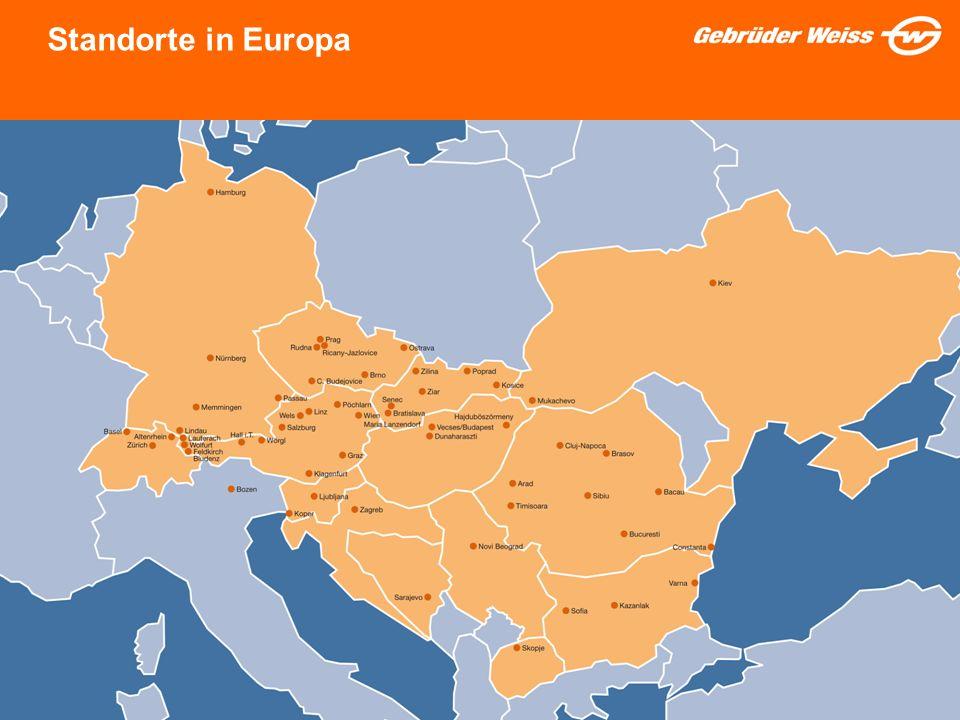 3 Standorte in Europa