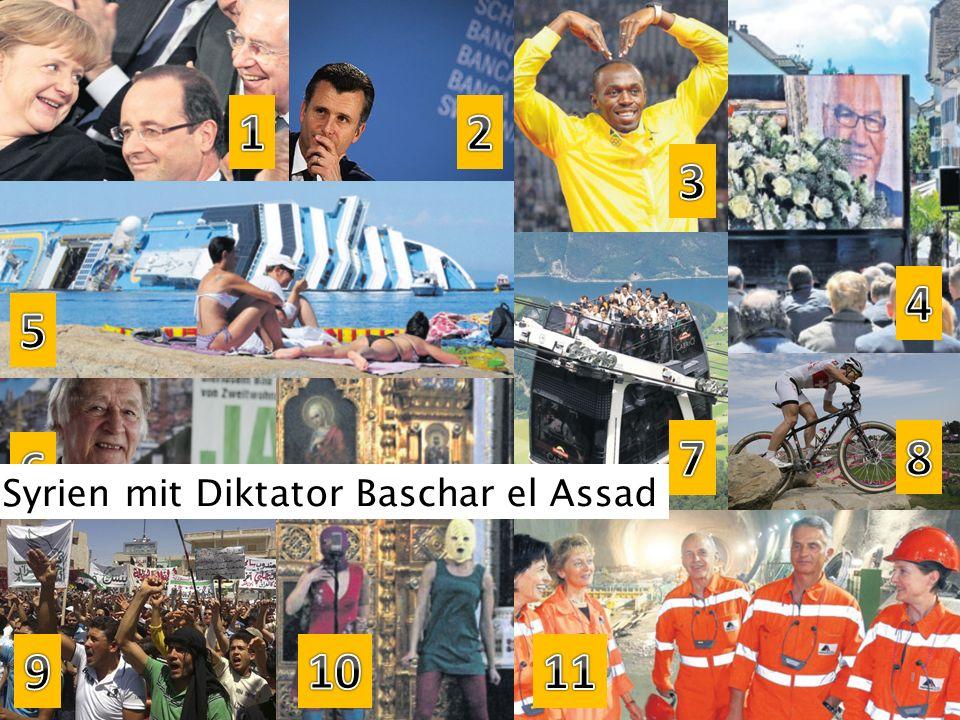 Syrien mit Diktator Baschar el Assad