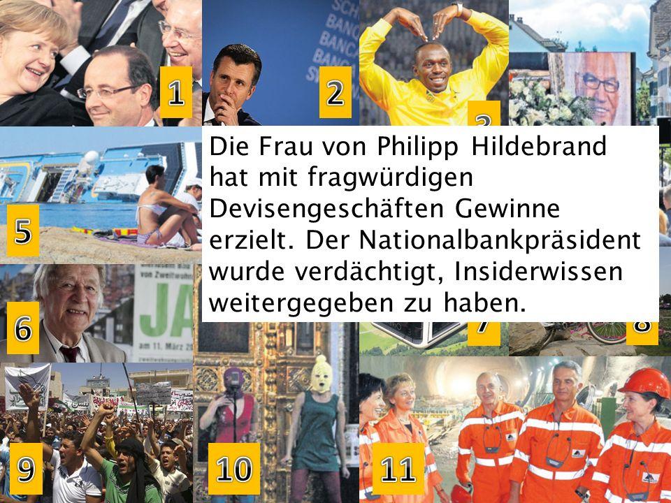 Die Frau von Philipp Hildebrand hat mit fragwürdigen Devisengeschäften Gewinne erzielt. Der Nationalbankpräsident wurde verdächtigt, Insiderwissen wei