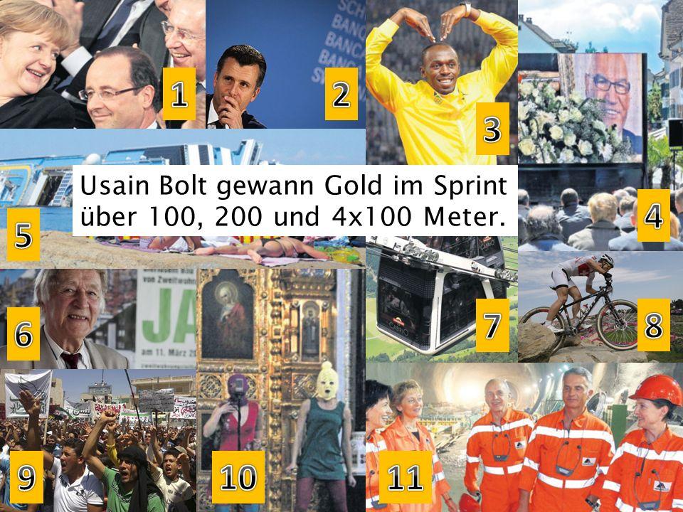 Usain Bolt gewann Gold im Sprint über 100, 200 und 4x100 Meter.