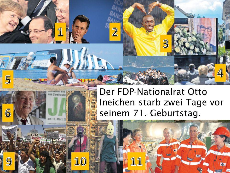 Der FDP-Nationalrat Otto Ineichen starb zwei Tage vor seinem 71. Geburtstag.